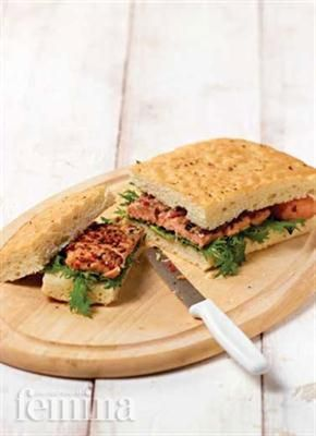 Femina.co.id: Salmon Sandwich #resep #menudiet