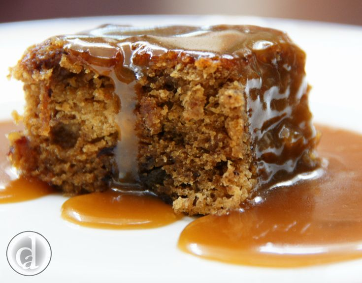 Gluten free Sticky date pudding with butterscotch sauce. -Yum!