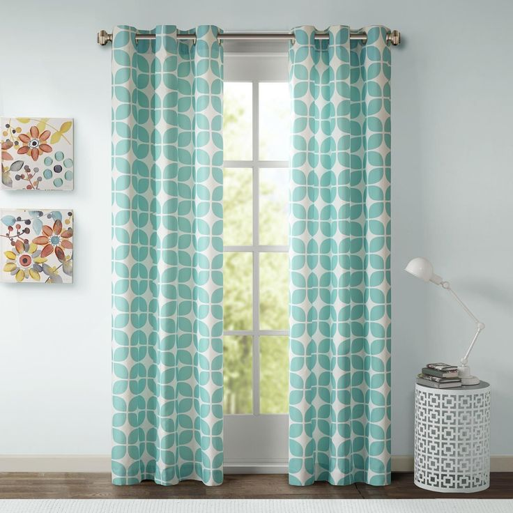 Superb Intelligent Design Lita Grommet Top Window Curtain Panel Pair In Grey/White