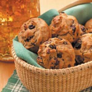 Raisin Rye Muffins--egg, wheat and milk free. Good for people with food allergies