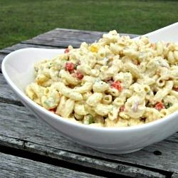 The Ultimate Macaroni Salad - Loaded with veggies and fresh herbs, this is no ordinary, store bought salad.
