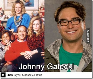 Johnny Galecki is Rusty Griswold and  Leonard! WHat????!!!!