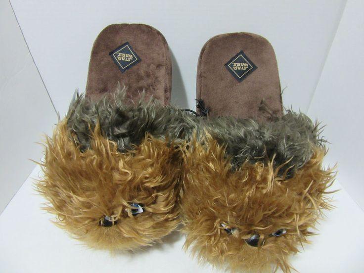 Star Wars Chewbacca Men's Slip-on Slippers L  New Disney  #StarWars #SlipOn