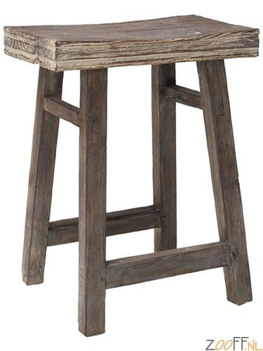 HK Living Kruk Naturel Rustiek - Natuurlijk rustiek hout geeft een moderne, hippe uitstraling aan deze kruk. De HK Living Naturel Rustiek kruk zal dan ook niet misstaan in een modern interieur, maar kan ook prima in een rustieke omgeving worden geplaatst. Feit is dat de kruk een echte eye catcher is voor een betaalbare prijs.