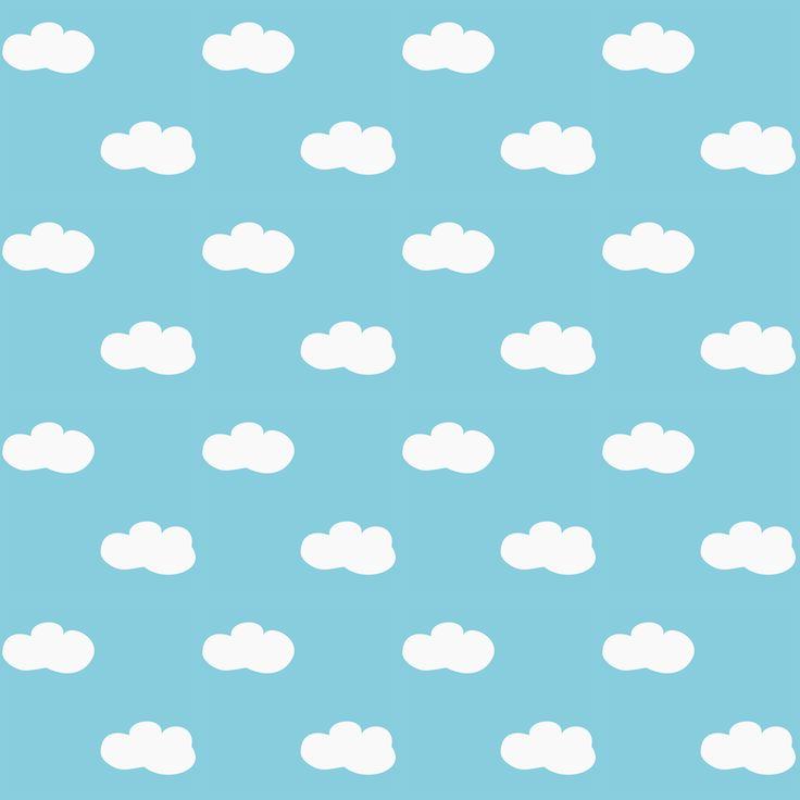 Comunicaciones libres digitales nubes esponjosas scrapbooking - ausdruckbare Geschenkpapiere - regalo de promoción | MeinLilaPark - printables bricolaje y descargas