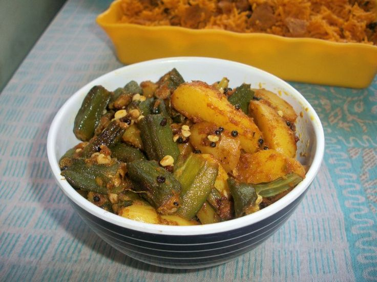 YUMMY TUMMY: Bhinda Bataka / Bhindi Batata / Gujarati Okra Potato Curry / Potato & LadysFinger Subzi (Sabzi) / How to make Leelo Masalo or Gujarati Fresh Masala