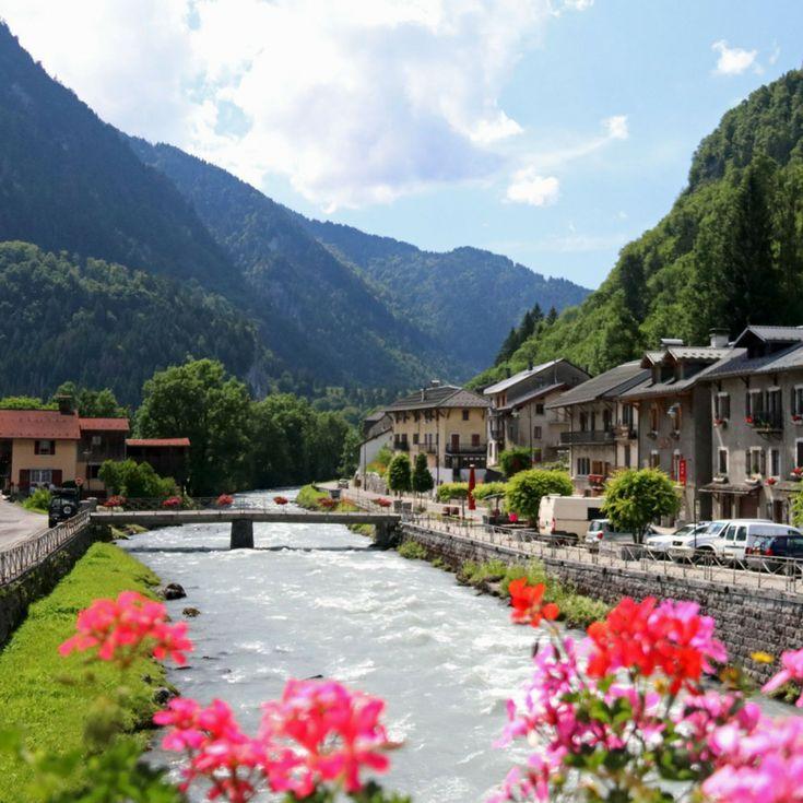 Dorp Sixt-Fer-a-Cheval, Haute-Savoie, Franse Alpen