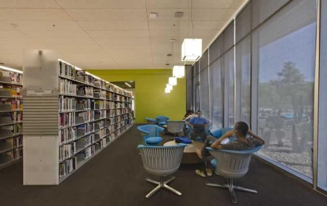 Reading Area and Book Stacks and Gateway Community College