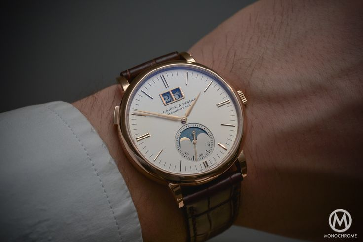 Lange Sohne Saxonia Moon Phase Automatic outisze date SIHH 2016 - _0620