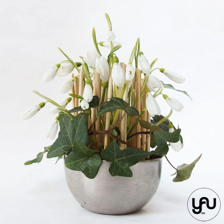 Aranjament floral GHIOCEI si IEDERA - flori 1-8 MARTIE | YaU Concept BLOG