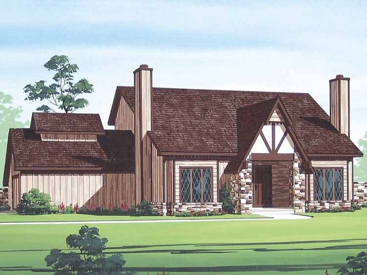 Chalet House Plan with 1616 Square Feet and 3 Bedrooms from Dream Home Source | House Plan Code DHSW62699