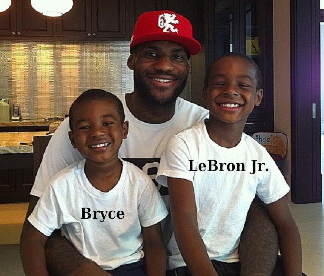 LeBron James' kids - sons Bryce and LeBron jr.