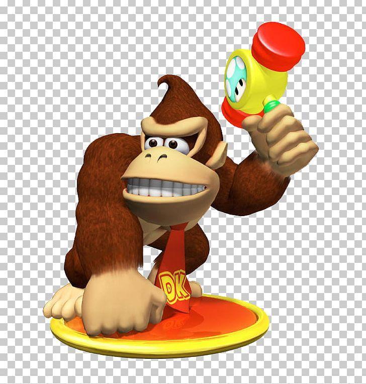 Donkey Kong Mario Party 4 Luigi Gamecube Png Cartoon Diddy Kong Donkey Kong Figurine Food Donkey Kong Mario Party Mario