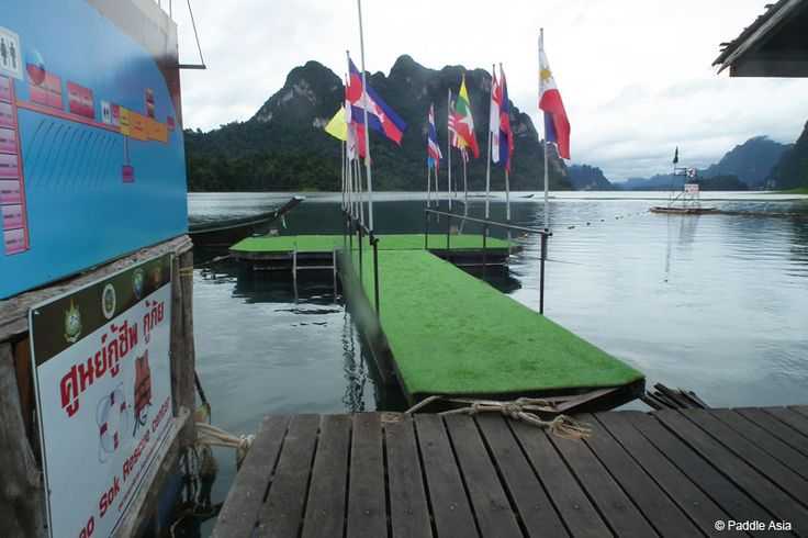 This is one of the fancy docks at the floating bungalows