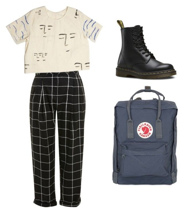 """""""Untitled #2"""" by amala-ayyar on Polyvore featuring Topshop, Dr. Martens and Fjällräven"""
