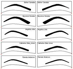Free eyebrow stencils *printable* ( tons of them) http://www.yestheyrefake.net/eyebrow_stencils.htm