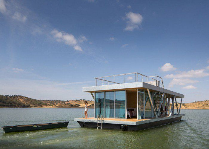 Modular Floating Home Lets You Live on the Water Anywhere - http://freshome.com/modular-floating-home/