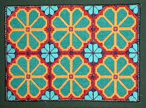 T.Carrillo weaving - Huichol - Visions - Richard F. Brush Art Gallery - St. Lawrence University