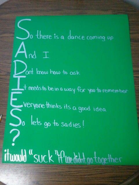 Good Ways To Ask A Guy To Sadies