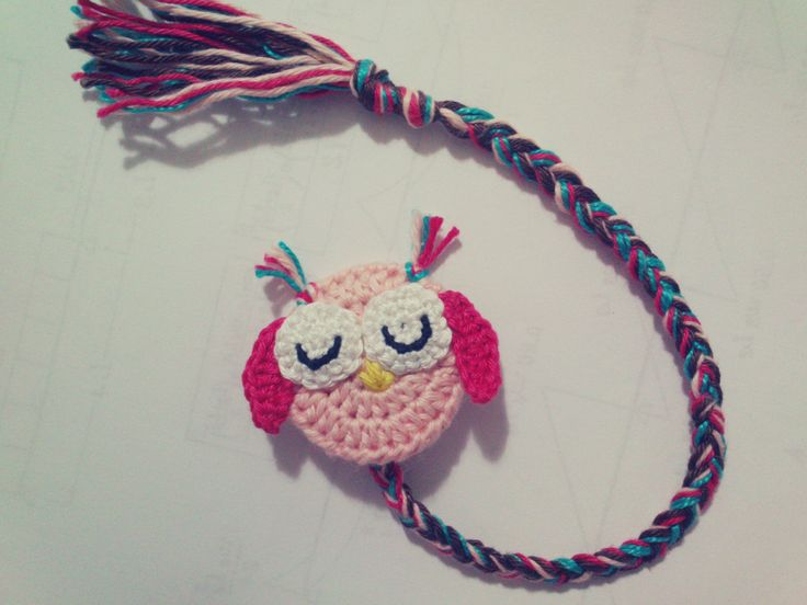Crochê Coruja Favorito -  /   Crochet Owl Bookmark -