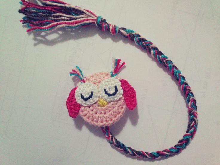 Crochet Owl Bookmark ☂ᙓᖇᗴᔕᗩ ᖇᙓᔕ☂ᙓᘐᘎᓮ http://www.pinterest.com/teretegui