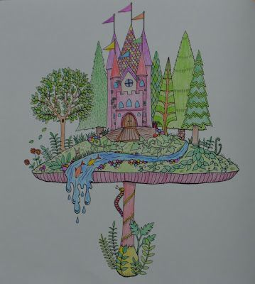 Johanna Basford: Enchanted forest coloring book  - castle