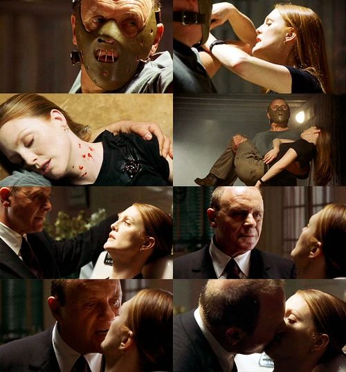 Anthony Hopkins & Julianne Moore in the movie Hannibal 2001