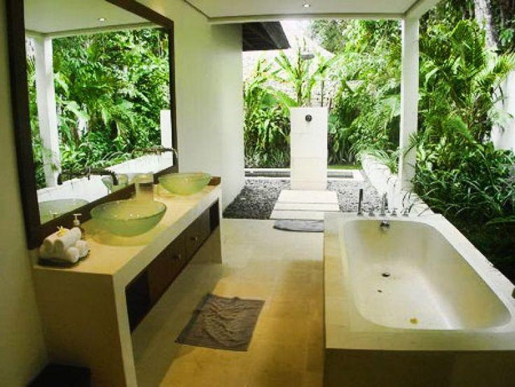129 best luxury bathrooms images on pinterest bathroom for Balinese bathroom design