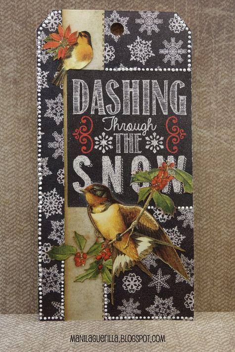 12 Tags for Christmas 2017 - Dashing