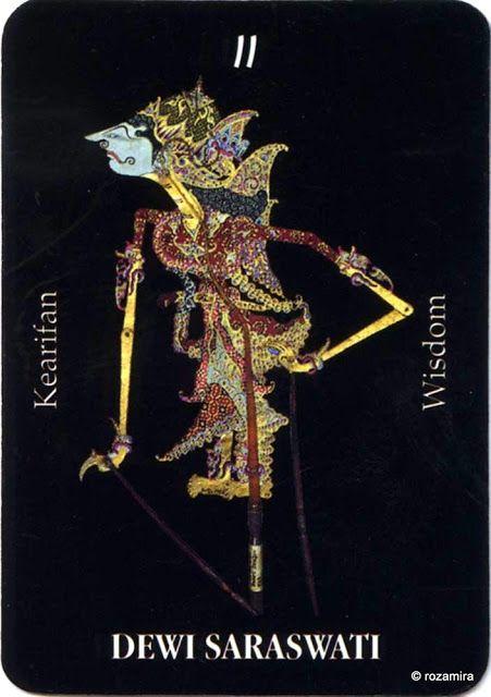 II. The High Priestess (Dewi Saraswati) - Tarot Wayang (Indonesia) by Ani Sekarningsih