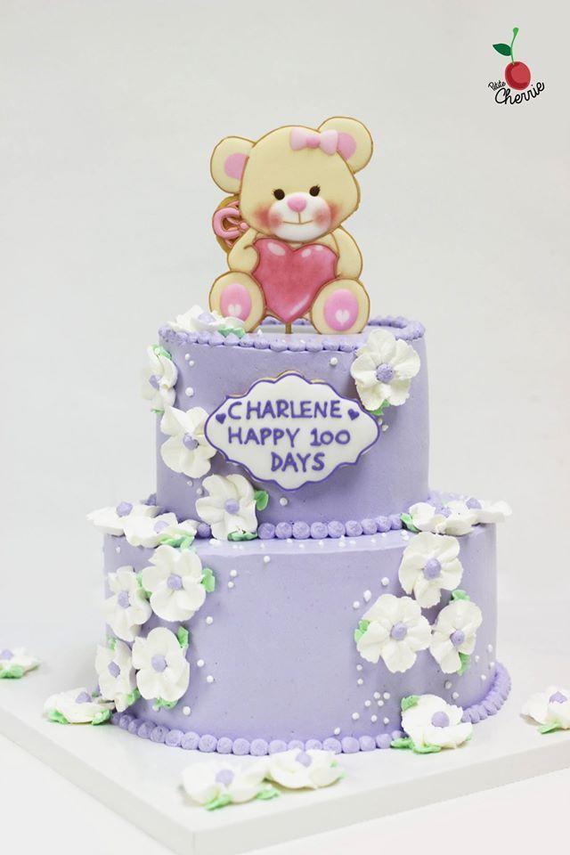 Teddy Bear Baby's Hundred Days cake