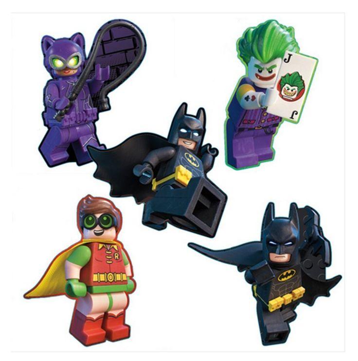 "20 Lego Batman Movie Shaped Stickers, Approx 2"" x 2.25"" Each, Party Favors #Sandylion #BirthdayChild"