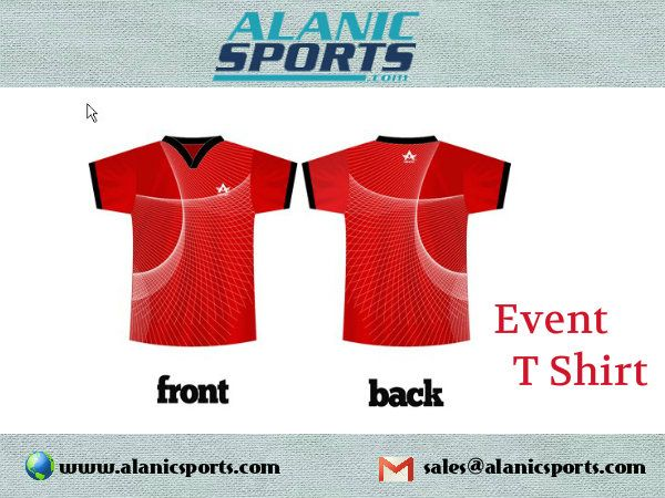 Get the high quality event t shirt from Alanic Sports for comfortable wear.