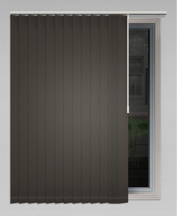 Melaleuca 89mm (Blockout) Vertical Blind - Slate #vertical #blinds