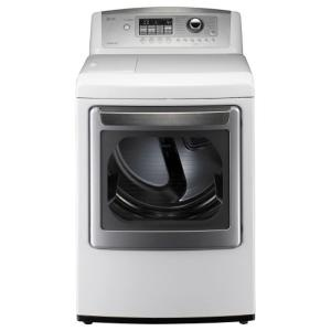 LG Electronics 7.3 cu.ft. Extra Large Capacity Gas SteamDryer in White - Model # DLGX5171W at The Home Depot