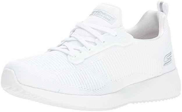 Skechers , Damen Sneaker weiß weiß schwarz: