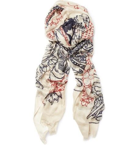 Cashmere Silk Scarf - intense desire silk scarf by VIDA VIDA TFPDgMLit