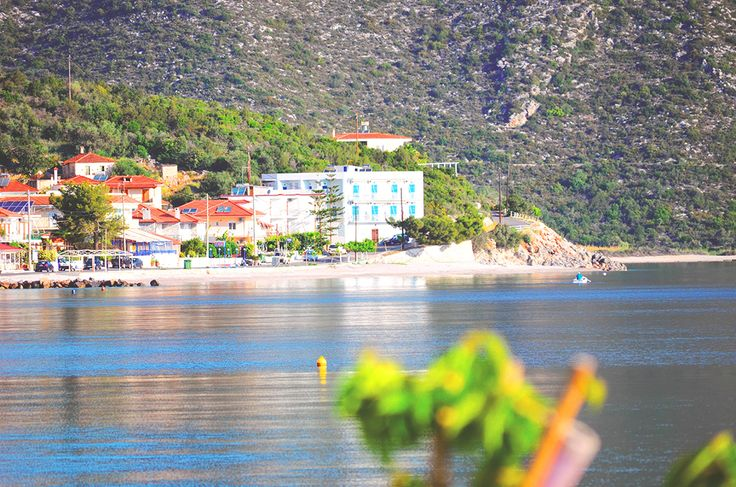 Photo of our hotel's exact location in Tyros Greece.