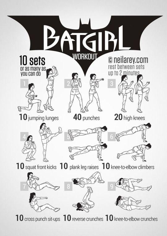 Batgirl - Nerdy Superhero Exercises by Neila Rey