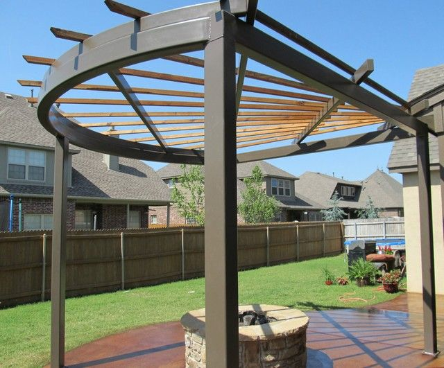 Steel shade pergolas pictures custom pergola installs for Steel shade structure design