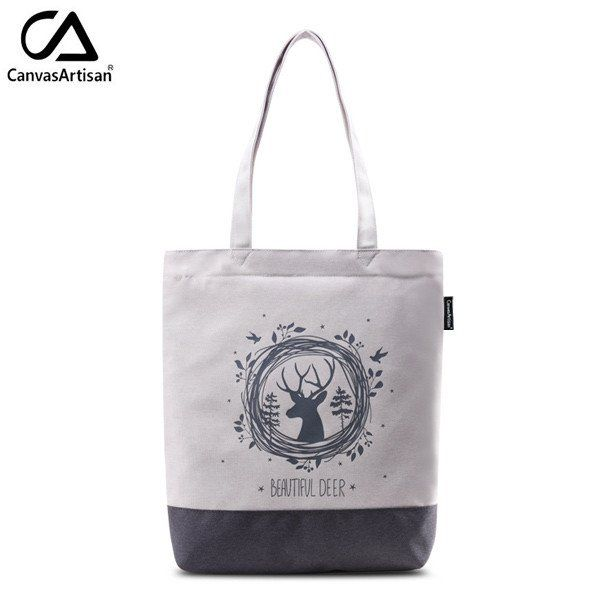 Canvasartisan women tote simple design shoulder bag female handbag shopping travel daily book bags