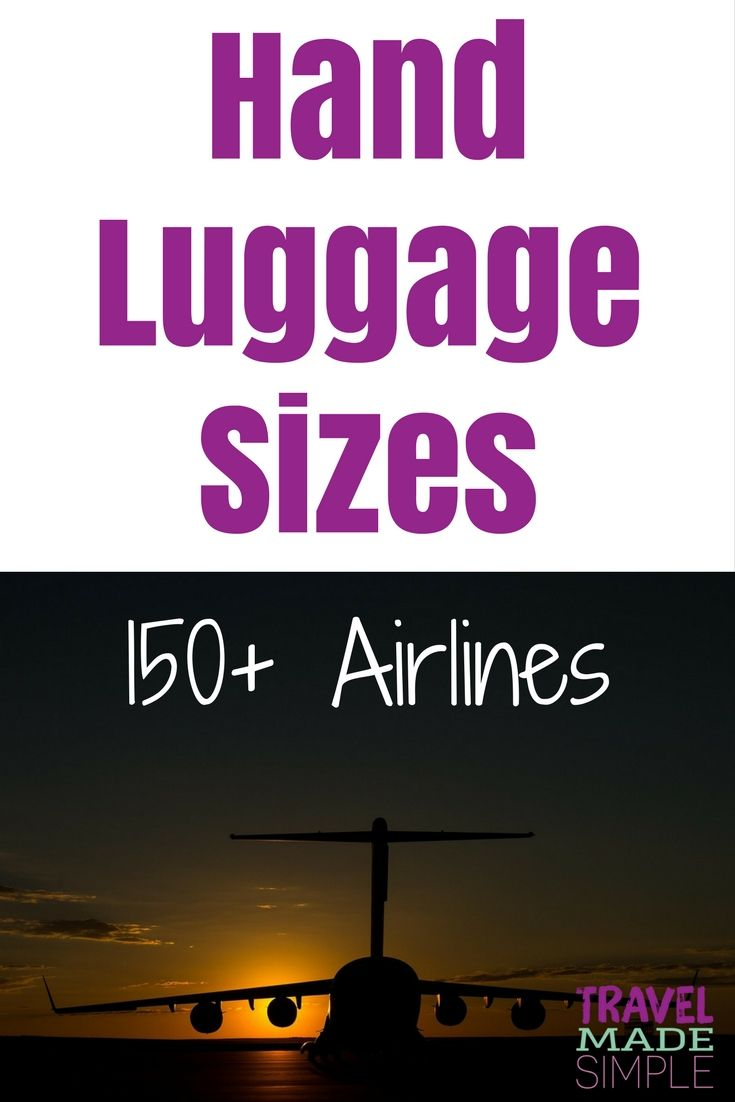 This hand luggage size chart provides sizes allowed by more than 150 airlines worldwide plus other carry-on restrictions such as number of items and weight allowed. Find the right cabin size luggage for your travels! | packing tips