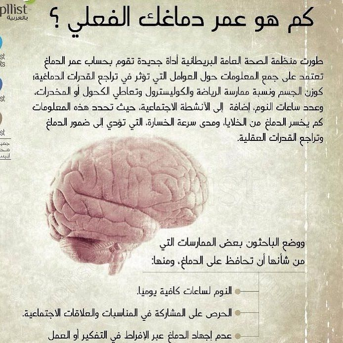 كم هو عمر دماغك الفعلي معلومات طبية Body Hacks 80 S
