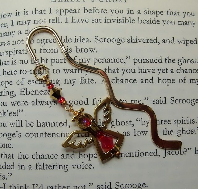 Christmas angel - guardian angel bookmark