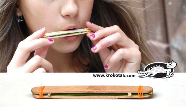 DIY - Harmonica using popsicle sticks, broken toothpicks and rubber bands!