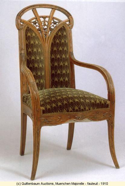 Muenchen Majorelle - fauteuil - 1910 / Art Nouveau/ Quittenbaum Auctions