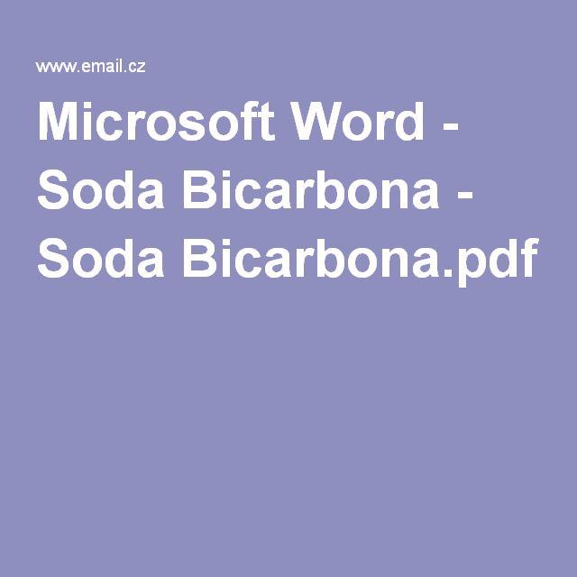 Microsoft Word - Soda Bicarbona - Soda Bicarbona.pdf