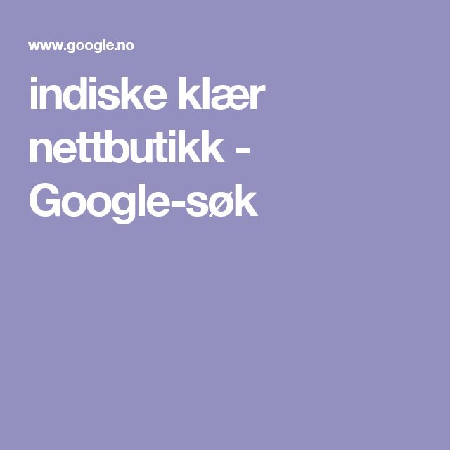 indiske klær nettbutikk - Google-søk