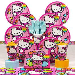 Neon Hello Kitty Party Supplies, Decorations and Ideas | WholesalePartySupplies.com
