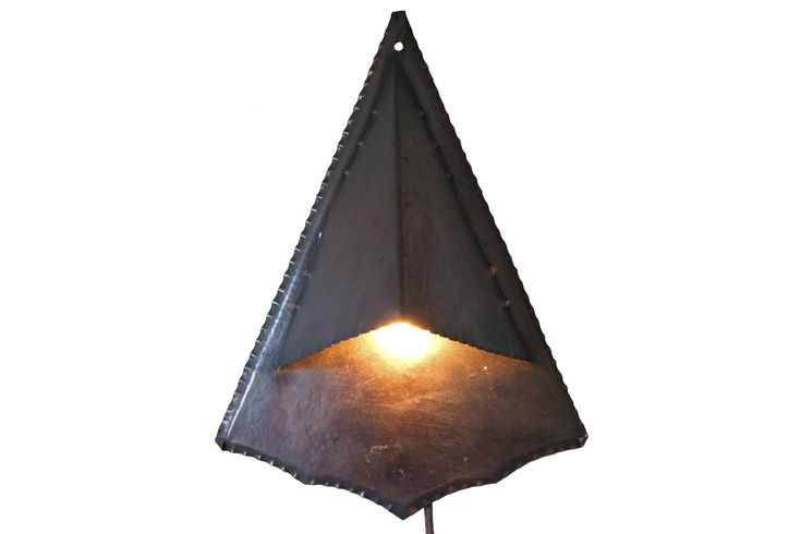 Copper Amsterdam School wall lamp / sconce / light - handmade - 1910-1940